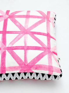 Zig Zag Trim Pillow