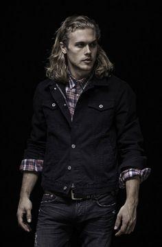Jacob Trucker Jacket- Midnight Selvage   Available at jacobdavisusa.com.  #denim #fall #style #menswear