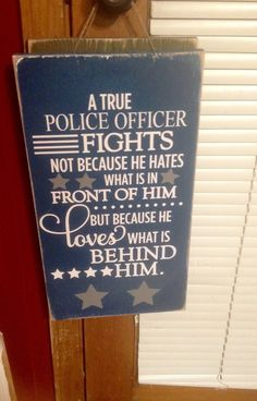 Police officer sign a true police officer by SandJBargainVault