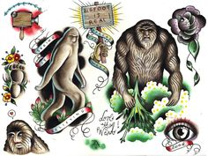 bigfoot tattoo - Google Search