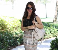 Midi dress, Jessica Simpson Shoes and Bag, Forever 21 Cuff