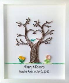 Quilling; love the trunk
