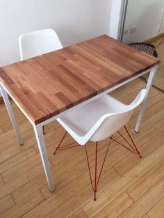 Mesa escritorio tapa madera caño blanco | Palermo | alaMaula | 122777936