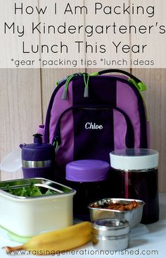 How I Am Packing My Kindergartener's Lunch This Year :: Gear, Packing Tips, & Lunch Ideas - Raising Generation Nourished