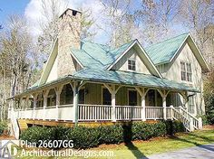 The Perfect Cottage Retreat - 26607GG   Cottage, Country, Mountain, Vacation, Narrow Lot, Photo Gallery, 1st Floor Master Suite, CAD Available, PDF, Wrap Around Porch   Architectural Designs