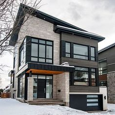 ✔ 52 most popular modern dream house exterior design ideas 51 > Fieltro.Net ✔ 52 most popular modern dream house exterior design ideas 51 > Fieltro. Dream House Exterior, House Exterior Design, Roof Design, Design Design, Modern Exterior, Rustic Exterior, Grey Exterior, Colonial Exterior, Modern House Design
