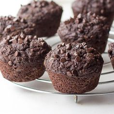 Made from coconut flour, these moist, low carb Chocolate Zucchini Muffins are a healthy and safe snack for school lunches or the perfect keto treat. THM