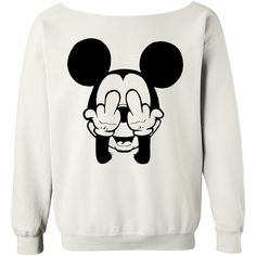 Mickey Sweatshirt Mickey Mouse Shirt WHITE off the shoulder slouch... (77 BRL) ❤ liked on Polyvore featuring tops, hoodies, sweatshirts, shirts, sweaters, t-shirts, slouchy sweatshirt, off the shoulder shirts, white sweatshirt and oversized sweatshirts