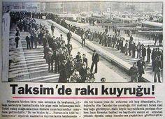 The tail of Turkish Raki in Taksim, Istanbul Old Pictures, Old Photos, Old Fonts, Ottoman Empire, Historical Pictures, Istanbul Turkey, Paris Skyline, City Photo, Nostalgia