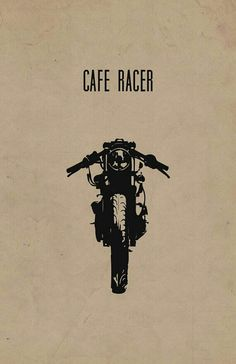 "One of our engineers built his own cafe racer. Limited Edition ""Cafe Racer"" Motorcycle Poster on Recycled Card Stock in) Enduro Vintage, Vintage Motorcycles, Custom Motorcycles, Triumph Motorcycles, Vintage Cafe Racer, Cafe Racer Motorcycle, Motorcycle Style, Skyteam Ace, Cbx 250"