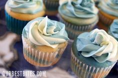 Tutorial to make 2-color frosting for cupcakes - just use 2 pastry tubes inside a 3rd one that you've attached a coupler and decorative tip to and you're in business!