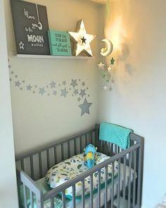 Mais uma inspiração legal de quartinho unisex para as futuras mamães 😍 📸 Pinterest #blogmeuminiape #meuminiape #apartamentospequenos #inspiração #quartobebe #decoração