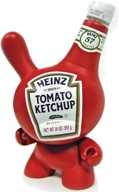 Heinz Ketchup custom Dunny, by Sket One Toy Art, Heinz Ketchup Recipe, Homemade Ketchup, Doll Painting, Kawaii, Vinyl Toys, Vinyl Art, It Goes On, Mugs