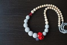 Stylish Crochet Teething/ Nursing necklace by NecklacesForMommy, $27.00