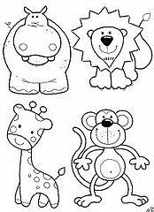animais (LILIZINHA!!!) Tags: feltro animais desenhos riscos moldes