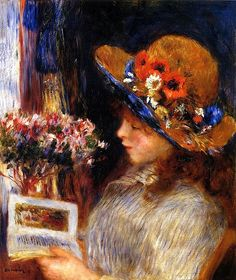 Young girl reading : Auguste Renoir - 1886