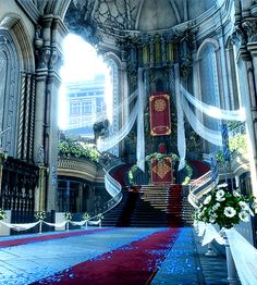 Throne room of the wedding sequence. I took these with Ansel out of bounds. – Kylie Echard Throne room of the wedding sequence. I took these with Ansel out of bounds. Throne room of the wedding sequence. I took these with Ansel out of bounds. Final Fantasy Xv, Fantasy Concept Art, Fantasy City, Fantasy Castle, Fantasy Places, Fantasy Artwork, Fantasy World, Dark Fantasy, Fantasy Rooms