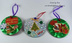 The decoupage technique is very popular lately. Cheap Christmas Ornaments, Kids Christmas Ornaments, Diy Christmas Decorations Easy, Christmas Crafts For Kids, Homemade Christmas, Christmas Projects, Pinterest Christmas Crafts, Pinterest Crafts, Cd Crafts