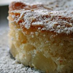 Soft pear cake recipe( I might give it a try)☺