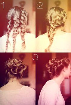 Várias tranças, e um penteado que é a cara do glamour! #hair #tranças