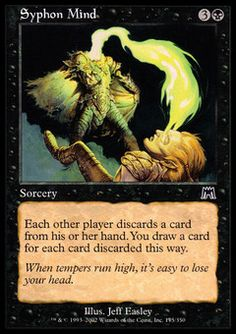 Syphon Mind ($.23) Price History from major stores - Onslaught - MTGPrice.com Values for Ebay, Amazon and hobby stores!