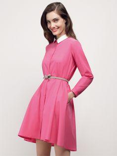 mastirina - Paule Ka весна-лето 2013 Paule Ka, Dresses For Work, Dresses With Sleeves, What To Wear, High Neck Dress, Long Sleeve, Pink, Clothes, Designers
