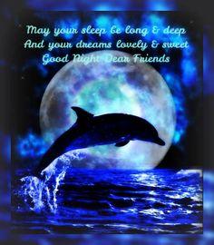 Good Night Dear Friends night sleep good night good evening sweet dreams good night greeting good night quote