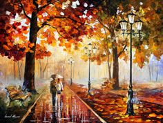 Stroll Of Infinity — ORIGINAL Landscape Oil Painting On Canvas by Leonid Afremov, $2500.00