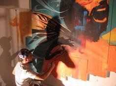 Dutch Uncle Open Studio, Dragon76 Live Painting