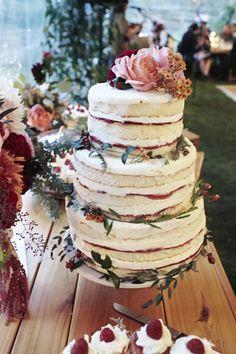 Berry naked cake   Wedding & Party Ideas   100 Layer Cake