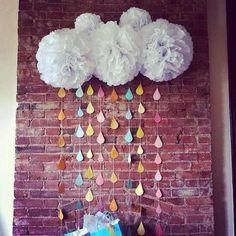 Бумажный декор ♥♥ Бумажные помпоны и цветы