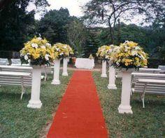 Decoração de casamento de jardim