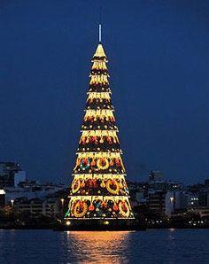 Vakkert juletre i Rio de Jeneiro