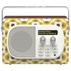 Buy Pure Evoke Mio by Orla Kiely DAB/FM Digital Radio, Buttercup Edition from our Radios range at John Lewis.