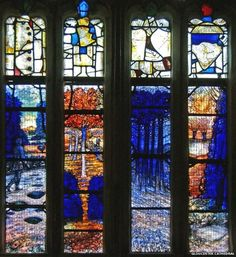 Ivor Gurney stained glass window, Golucester Cathedral