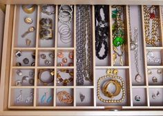 75 Creative Ways To Organize Your Jewelry 75 Creative Ways To Organize Your Jewelry : Lucky Magazine. I really need to this. My jewelry is all over the place. Whats the sense of having a lot if its not organized. Thanks Lucky.