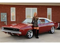 We love Muscle cars. Everything you need to know about Muscle cars. - For Daily Car News, Readers Rides, Daily best Muscle car buys. Dodge Muscle Cars, Best Muscle Cars, American Muscle Cars, Dodge Challenger, Dodge Charger 1969, Charger Rt, Mopar Girl, Best Classic Cars, Car Girls