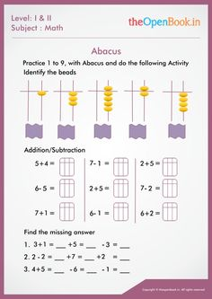 Abacus Math, Abstract Pencil Drawings, Madhubani Art, Addition And Subtraction, Worksheets, Activities, Education, Literacy Centers, Addition And Subtraction Practice