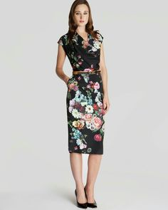 262c363cd Ted Baker Dress - Robyne Oil Painting Print Below the knee and still classy!