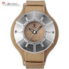 Silky Shark Sport Watch 2017 NEW Luxury Brand Men Silver Sundial Designer Quartz Clock Army Brown Leather Wrist Watches Best Watches For Men, Mens Sport Watches, Cool Watches, Wrist Watches, Men's Watches, Silky Shark, Sundial, Silver Man, Fashion Watches