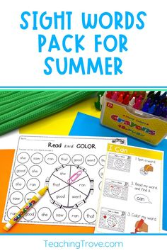 Creating sight word activities can be so time-consuming when kids are at different levels and you need to differentiate your activities to help them be successful. Teaching Sight Words, Sight Word Activities, Word 2, Word Work, High Frequency Words, Student Learning, First Grade, Kindergarten, Packing