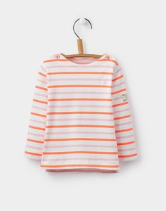 Toddler harbour Multi Stripe Luxe Jersey Top  | Joules US