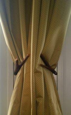 Curtain Holdbacks, Willow Tree Wood, finished September 2015