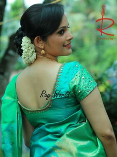 Whatsapp on 9496803123 to customise handwork and cutwork Kerala Saree Blouse Designs, Saree Blouse Neck Designs, Simple Blouse Designs, Stylish Blouse Design, Bridal Blouse Designs, Designer Blouse Patterns, Handmade Crafts, Aari Embroidery, Work Blouse