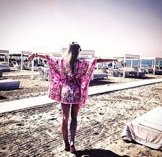 In Forte dei Marmi with our beloved Ludovica Rocchi wearing Naughty Dog SS15 kaftan! Item still available on sale online 50% off!