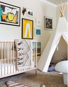 the boo and the boy: teepees and tents Nursery Room, Boy Room, Kids Bedroom, Ikea Hacks, Creative Kids Rooms, Adairs Kids, Kids Corner, Nursery Inspiration, Nursery Design