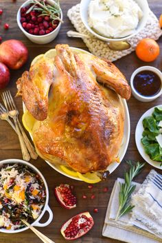 Roasted Turkey with Bourbon Apricot Glaze - Jazz up a classic roasted turkey with this simple glaze that gets brushed on when the bird comes out of the oven!