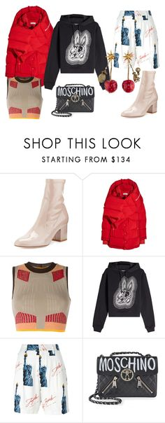 """""""revenge"""" by astresolitaire ❤ liked on Polyvore featuring Valentino, Balenciaga, adidas Originals, McQ by Alexander McQueen, Joyrich, Moschino and Gucci"""