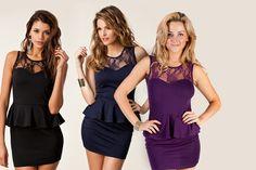 Stylish Lace Panel Dress