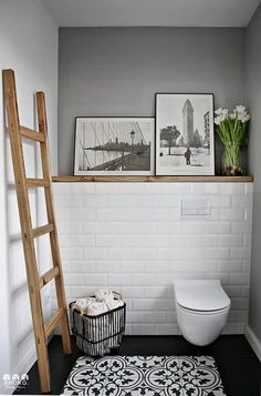 La rénovation en gris d'une maison ancienne par Shoko Design - PLANETE DECO a homes world The Effective Pictures We Offer You About bathroom art A quality picture can tell you many things. Bathroom Interior, Interior Design Living Room, Kitchen Interior, Attic Bathroom, Wooden Bathroom Vanity, Ikea Bathroom, Interior Colors, Small Bathroom, Casa Rock